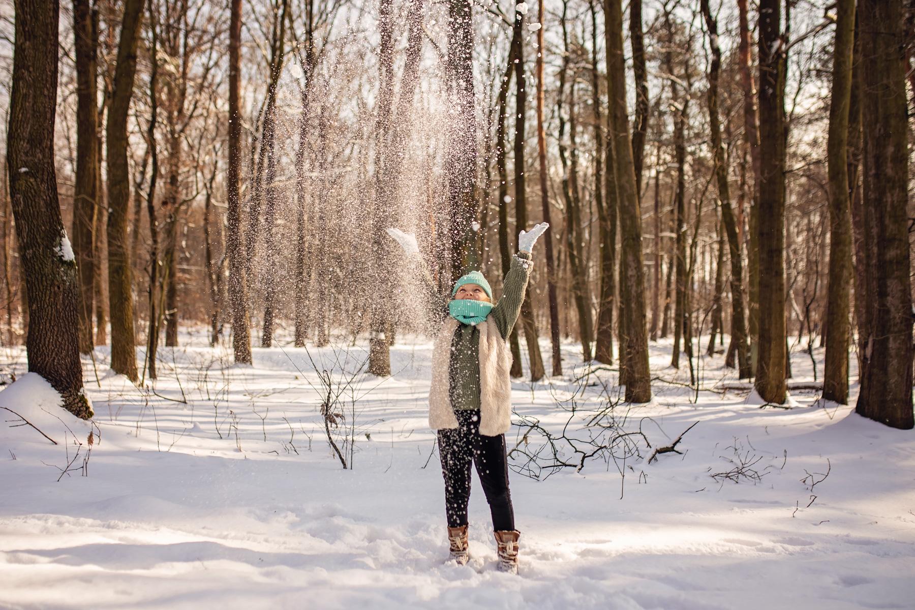 Sesje zimowe w plenerze Śląsk
